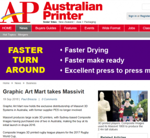 Australian Printer Massivit media article