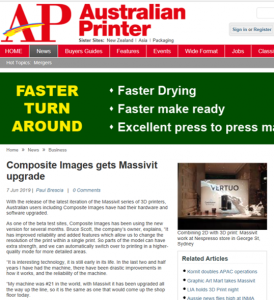 Australian Printer Massivit Pro Upgrade