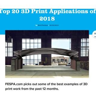 FESPA top 20 3d prints