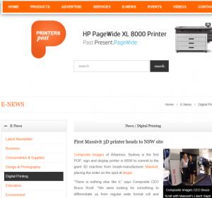 Printers Post Media Article Massivit 3D Printer