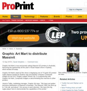 Pro Print Media article Massivit