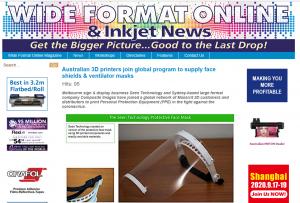 Wide Format Online Face Shield in COVID19 fight