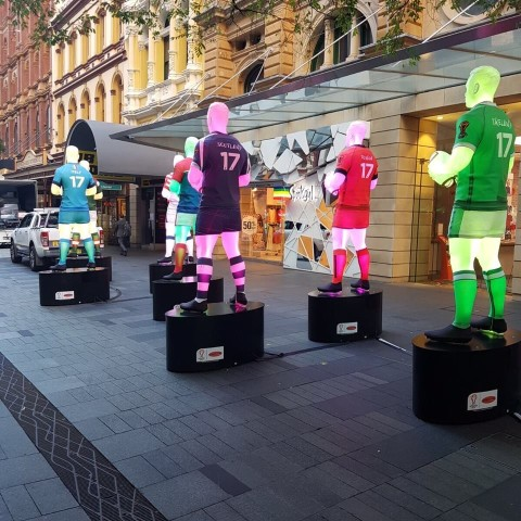 Illuminated Rugby Giants