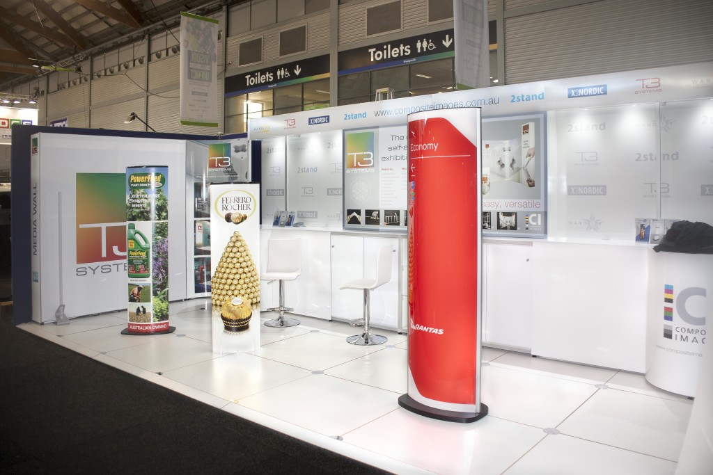 Composite Images exhibition stand with illuminated features