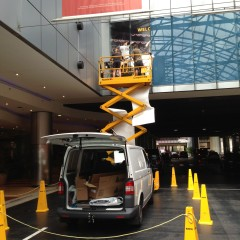 Installation services - installing graphics overhead