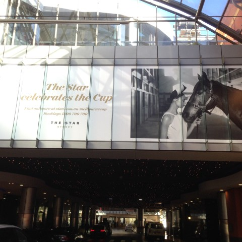 Large format printing- overhead for Melbourne Cup