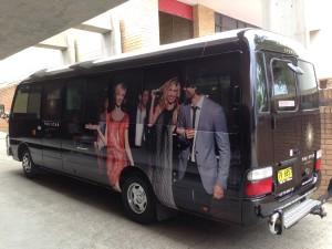 Right black bus vinyl wrapped
