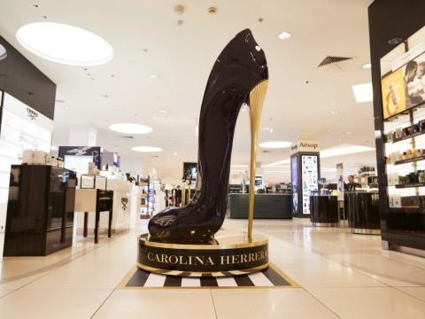 3D Shoe on display