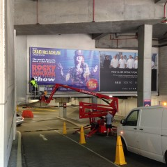Installation Services - installing large graphics in carpark