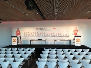 Media Wall from Manchester United tour press event
